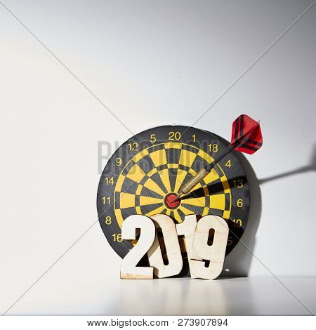New Year 2019 With Darts Board