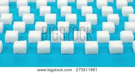 White Sweet Sugar Cubes Seamless Pattern