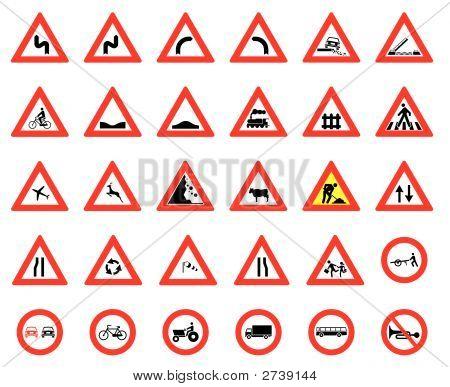Street Signs Vector Set