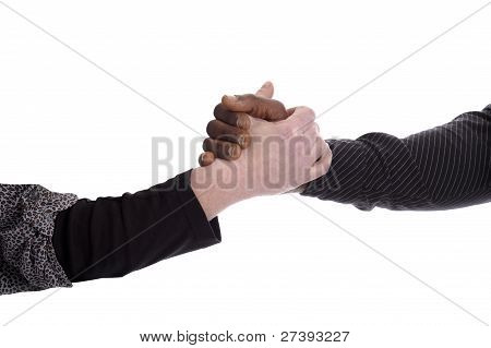 Black And White Hand Holding Each Other