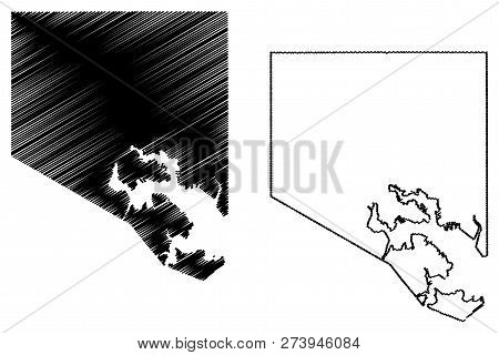 Baltimore City ( United States Cities, United States Of America, Usa City) Map Vector Illustration,
