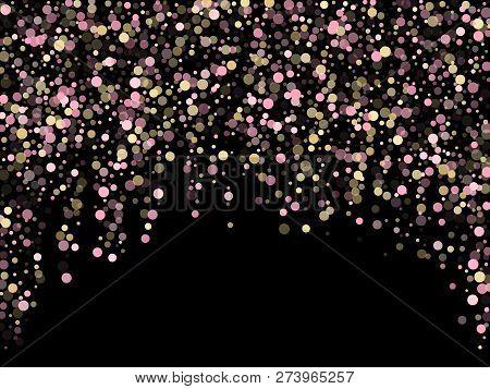 Pink Gold Confetti Vector Photo Free Trial Bigstock