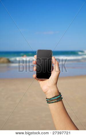 leere Mobile im Strand