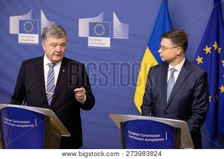 Brussels, Belgium - Dec 13, 2018: European Commission Vice-president For The Euro And Social Dialogu
