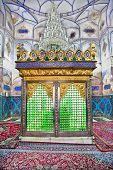 Muslims tomb inside Bohg-e Harun Vilayet Shrine, Esfahan, Isfahan. Iran poster