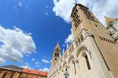 Cathedral church in Pecs, Hungary. Baranya County landmark. poster