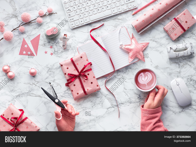 Christmas Flat Lay On Image Photo Free Trial Bigstock