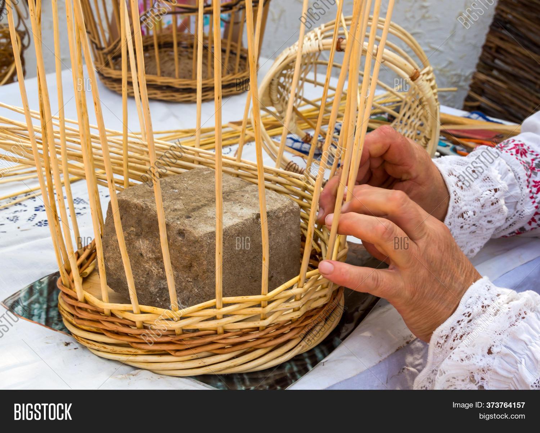 Hand Weaving Baskets Image Photo Free Trial Bigstock