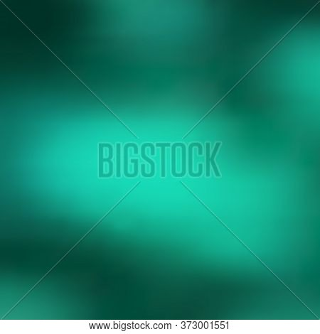 Abstract Background, Smooth Gradient Transition From Dark Bluish Green To Light Turquoise Large Spot