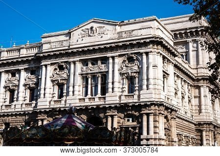 Facade Of The Magnificent Cassation Court In Rome, Italy
