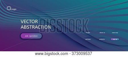 Graphic Fluid. 3d Flow Shape Banner. Vector Geometric Pattern. Vibrant Digital Website. Gradient Gra