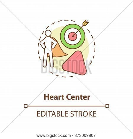 Heart Center Concept Icon. Personal Will. Ego And Motivation. Chakra In Body System. Human Design Id