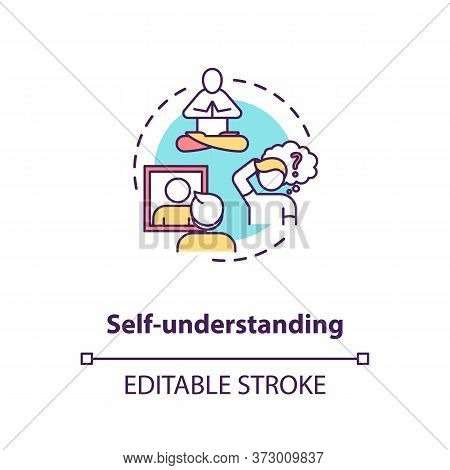 Self Understanding Concept Icon. Comprehend Inner Knowledge. Psychological Health. Mental Self Image