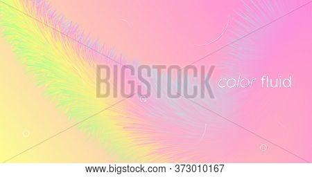 Abstract Color Liquid. Flow Template. Pastel Dynamic Movement. Vector Geometric Design. Digital Moti