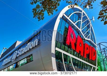 Vienna, Austria - September 2018: Impressive View On Fc Rapid Arena