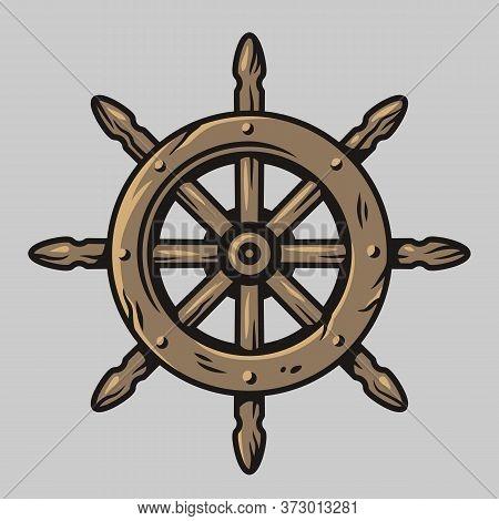Symbol Of Sail. Nautical Helm. Marine Cruises