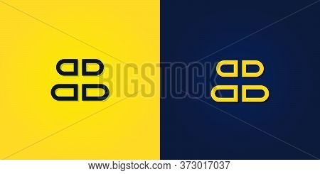 Minimalist Creative Abstract Initial Letter Bb Logo.