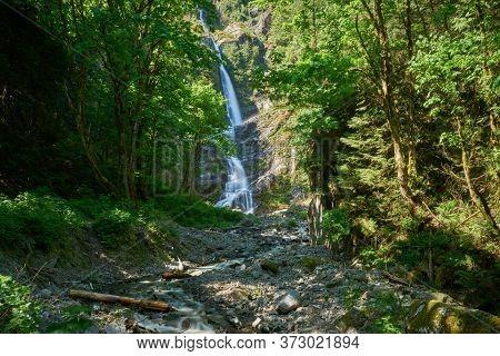 Flood Falls British Columbia. Flood Falls In The Forest Near Hope. British Columbia, Canada.