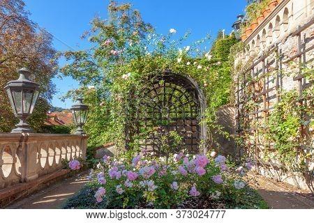 Small Furstenberg Garden, Prague - July 11: Lookout Terrace Of Rococo Garden, Part Of Palace Gardens