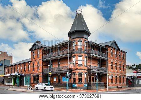 Burnie, Tasmania, Australia - March 1, 2020: A Traditional Building At A Corner Of The City Centre I