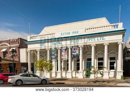 Cairns, Australia - Febreaury 13, 2020: The Former Cairns Post Office Pty Ltd Buildiing In Cairns, A