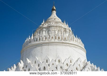 Beauty Mysterious Of Hsinbyume Pagoda (myatheindan) Nearly Mingun Pahtodawgyi Is Famous For A Comple