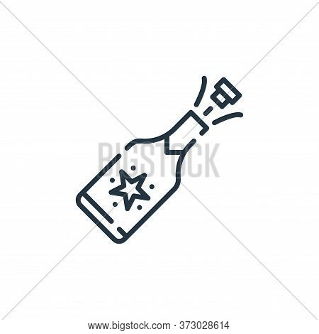 champagne icon isolated on white background from  collection. champagne icon trendy and modern champ
