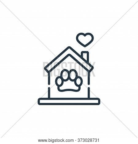Pet Shelter Vector Icon Isolated On White Background.