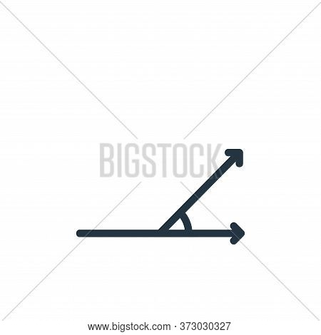 acute angle icon isolated on white background from  collection. acute angle icon trendy and modern a