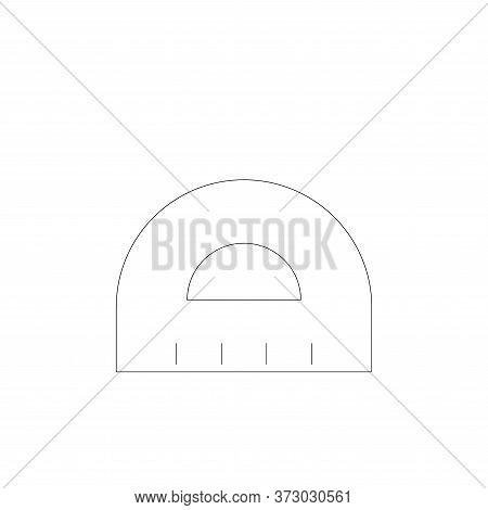 ruler icon isolated on white background from  collection. ruler icon trendy and modern ruler symbol