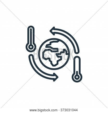 Global Warming Vector Icon Isolated On White Background.