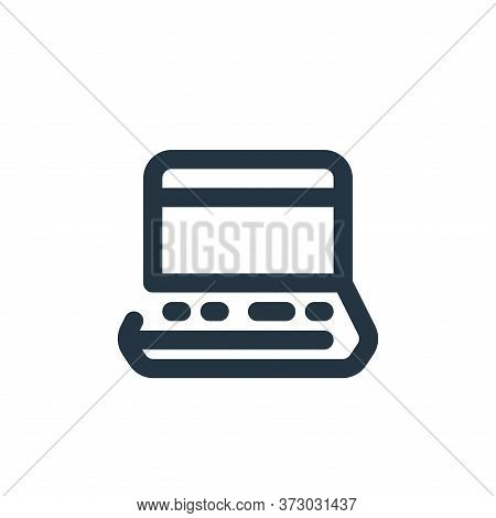 laptop icon isolated on white background from  collection. laptop icon trendy and modern laptop symb