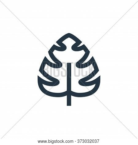 monstera leaf icon isolated on white background from  collection. monstera leaf icon trendy and mode