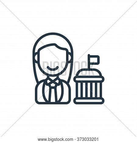 Politician Vector Icon Isolated On White Background.