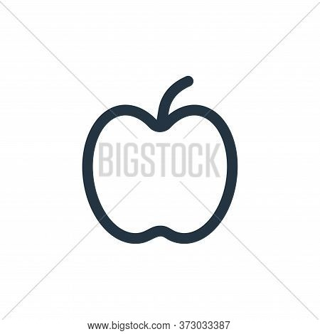 apple icon isolated on white background from  collection. apple icon trendy and modern apple symbol