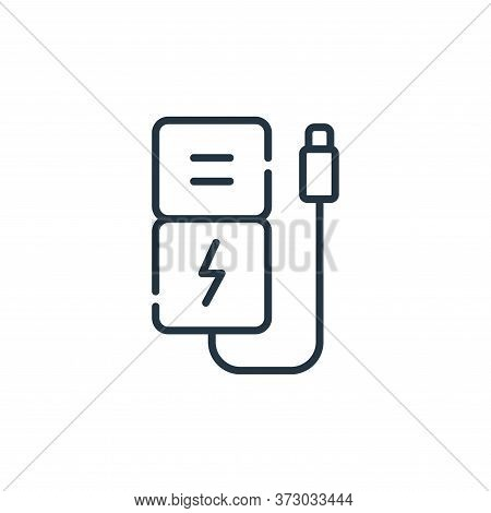 power bank icon isolated on white background from  collection. power bank icon trendy and modern pow