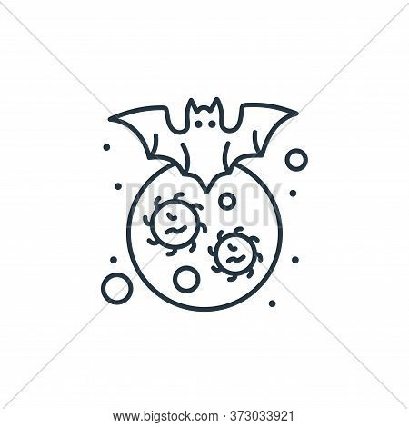 bat icon isolated on white background from  collection. bat icon trendy and modern bat symbol for lo