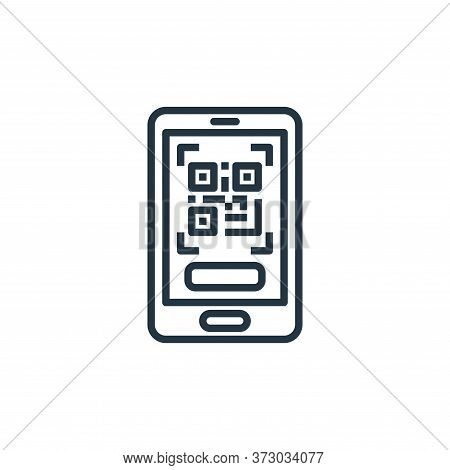 qr code icon isolated on white background from  collection. qr code icon trendy and modern qr code s