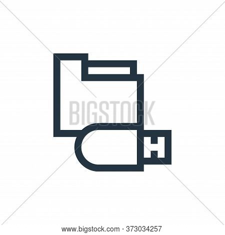 usb drive icon isolated on white background from  collection. usb drive icon trendy and modern usb d