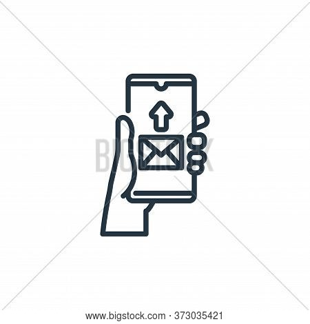 send mail icon isolated on white background from  collection. send mail icon trendy and modern send