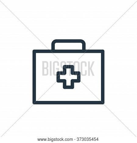 medicine box icon isolated on white background from  collection. medicine box icon trendy and modern