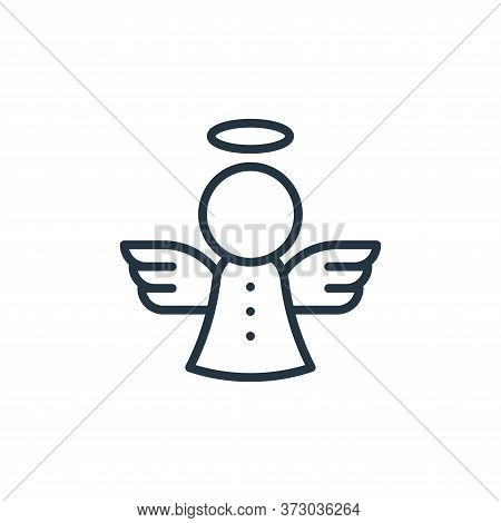 angel icon isolated on white background from  collection. angel icon trendy and modern angel symbol