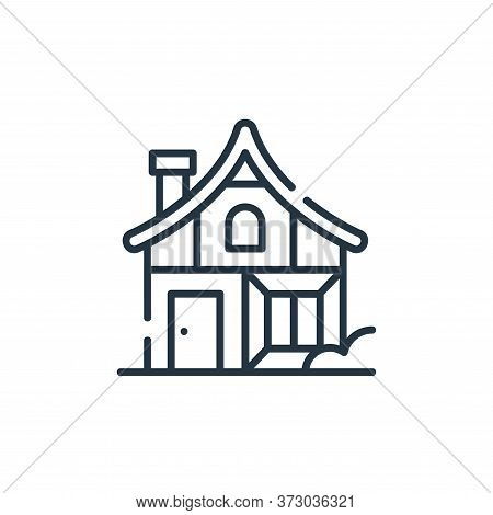 medieval house icon isolated on white background from  collection. medieval house icon trendy and mo