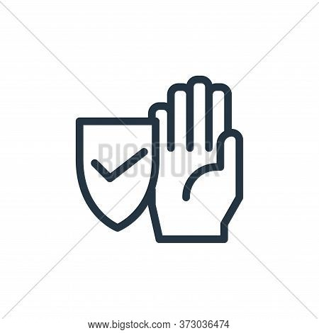 protection icon isolated on white background from  collection. protection icon trendy and modern pro