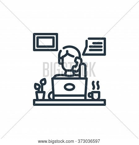 Teleworking Vector Icon Isolated On White Background.