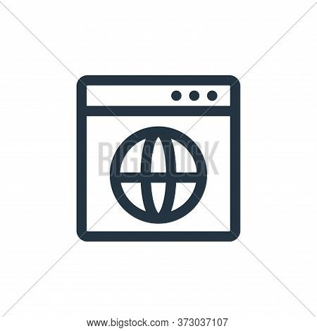browser icon isolated on white background from  collection. browser icon trendy and modern browser s
