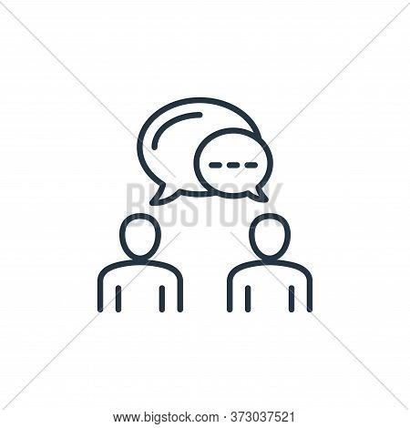 talking icon isolated on white background from  collection. talking icon trendy and modern talking s
