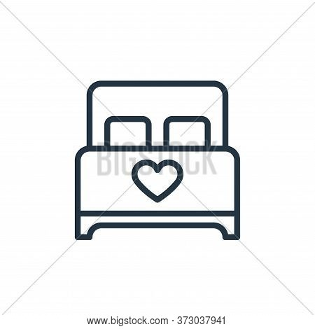 bed icon isolated on white background from  collection. bed icon trendy and modern bed symbol for lo