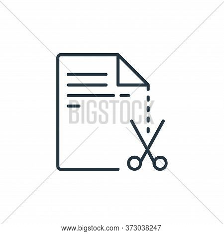 cut icon isolated on white background from  collection. cut icon trendy and modern cut symbol for lo