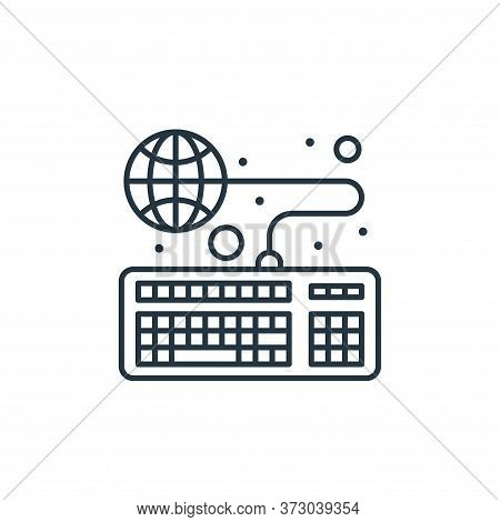 online education icon isolated on white background from  collection. online education icon trendy an
